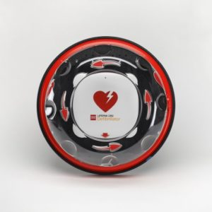 Hjertestarter skilt og skap
